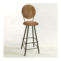 "Grace - 30"" Circular Back Swivel Stool - Features: -Painted according to your choice of metal finish. -Ships fully assembled. -Dimensions: 18"" W x 20"" D x 49"" H. -Seat height: 30"". -Artistically crafted in wrought iron. -Available in 12 designer metal finishes. -Suited for Residential use only. About Grace Grace Manufacturing is a metal and wrought iron furniture manufacturing company located in Rome, GA. The company has been in business for 25 years and continues to employ skilled artisans and craftsmen. In addition to their state of the art manufacturing equipment they still assemble and finish many products by hand. Many items in the Grace Collection are fully hand made or hand painted. With products ranging from barstools, counter stools, and dinettes to wrought iron beds, hanging potracks, bakers racks and more, Graces line meets all professional and home needs. By implementing unique styles and ideas to traditional products, Grace has created an exceptional balance between creativity and practicality. Their design styles range somewhere between whimsical, neo classic and traditional, thus creating a truly astonishing decor for any inside space."