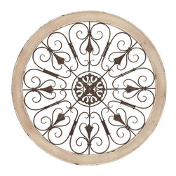 Benzara - Metal Wood Wall Panel 36in.D Wall Decor - Size: 36 Wide x 1 Depth x 36 High (Inches)