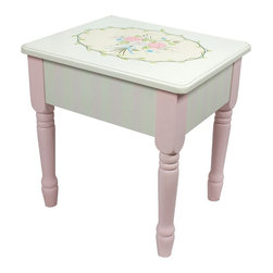 Fantasy Fields - Fantasy Fields Bouquet Vanity Stool Multicolor - W-3843G/2 - Shop for Vanities from Hayneedle.com! Brighten your child s bedroom with the Fantasy Fields Bouquet Vanity Stool. In cool fresh pink this vanity table is inspired by Arts and Crafts style featuring natural details and intricate floral patterns. Perfect for creative minds that love pretty things this vanity stool is crafted of solid eco-friendly hardwood with hand-carved edging and a delicate finish.Built for children age 4 to 11 years this vanity stool assembles in minutes and includes step-by-step instructions. Crafted using non-toxic materials it has been thoroughly tested for safety and stability.About Teamson DesignBased in Edgewood N.Y. Teamson Design Corporation is a wholesale gift and furniture company that specializes in handmade and hand-painted kid-themed furniture collections and occasional home accents. In business since 1997 Teamson continues to inspire homes with creative and colorful furniture.