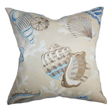 The Pillow Collection - Tait Blue 18 x 18 Coastal Throw Pillow - - Pillows have hidden zippers for easy removal and cleaning  - Reversible pillow with same fabric on both sides  - Comes standard with a 5/95 feather blend pillow insert  - All four sides have a clean knife-edge finish  - Pillow insert is 19 x 19 to ensure a tight and generous fit  - Cover and insert made in the USA  - Spot clean and Dry cleaning recommended  - Fill Material: 5/95 down feather blend The Pillow Collection - P18-D-42101-PUMICE-C100
