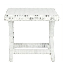 Safavieh - Safavieh Manor Wicker and Wooden Bench in White - Safavieh - Living Room Benches - FOX6529C - The Manor x- bench design brings a piece of the resorts to any room that has a  beautiful woven white wicker a sturdy wood frame and a chic design brings a fresh look to any room in your house.