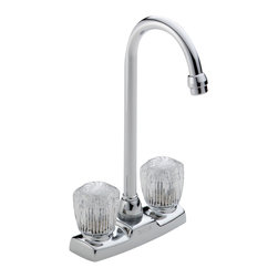 Delta Two Handle Knob Bar/Prep Faucet - 2170LF - Getting ready in the morning is far from routine when you're surrounded by a room and in the company of a faucet that reflects your personal style