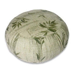Bamboo Meditation Zafu Cushion - Forget cheesy bean bags; elevate your kids' decor with this Meditation Zafu cushion.