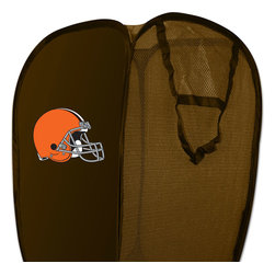 The Northwest Company - NFL Cleveland Browns Pop-Up Hamper Football Storage Basket - Features: