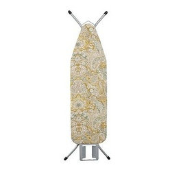 """PB Ironing Board Cover, Celeste Damask, Gold - Brighten up laundry day with our printed cotton ironing-board covers. They're sized for a standard board and elasticized for a secure fit. All styles are pure cotton or a cotton/linen blend. See Dimensions & Care tab for details for each style. Twill-tape drawstring ties. 58.5"""" long x 20.5"""" wide Made to fit ironing boards that are 54-56"""" long by 14-16.5"""" wide. Machine wash. Foam Ironing Board Pad (sold separately) provides a heat absorbing additional layer for more efficient ironing. Imported. Catalog / Internet only."""