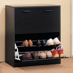 Coaster - Cappuccino Transitional Double Storage Rack - Double cappuccino finish shoes rack with ample storage soace. Designed for your closet or entry way.