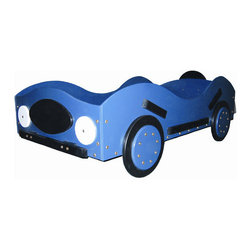"""Just Kids Stuff - New Style- Race Car Toddler Bed - Faster and sleeker than the old style racer, built for racing on the pavement; this bed will have your little racer racing to get to bed at high speed. Features: -Handmade from baltic birch laminate and other solid woods.-Distressed: No.-Frame Material: Baltic birch laminate / Solid woods.-Country of Manufacture: United States.Dimensions: -Overall Height - Top to Bottom: 36"""".-Overall Width - Side to Side: 29"""".-Overall Depth - Front to Back: 53"""".-Overall Product Weight: 65 lbs.Assembly: -Assembly required."""