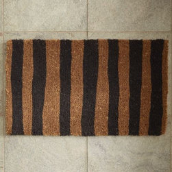 Painted Stripe Doormat - I might not take offense to being called a doormat if it was striped.