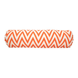 DD - Orange Eddie Outdoor Pillow - This orange Eddie outdoor pillow will bring vibrant colors to your backyard that are sure to be the spot light