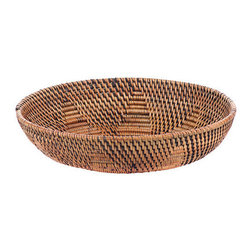 Brilliant Imports - Design Bowl - An eye-pleasing blend of ate grass and rattan. Perhaps use it as a little catch-all by your front door or put it by your bedside for holding jewelry and other little treasures.