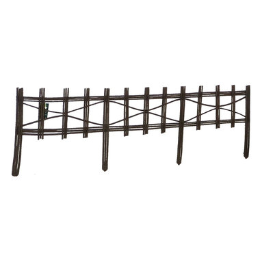 """Master Garden Products - Picket Fence Style Willow Edging, 16""""H x 47""""L - Used commonly in European gardens, these natural willow edging kits are ideal in the outdoors where it's needed to define garden areas, or use them to separate walkways. Some of our edgings are made from tightly woven canes or saplings with integrated lattice designs, while others have a rustic classic divider design. All are economically sustainable and environmentally friendly. Our willow edging kit comes in a convenient package with the edging panel and black nylon coated wire included. They are held up by sturdy legs that push easily into the ground. Optional pressure treated wood stick may be required to support the panels depending on the ground's condition. To improve the durability of the natural willow product, you can put a coat of linseed oil based preservative as yearly maintenance."""