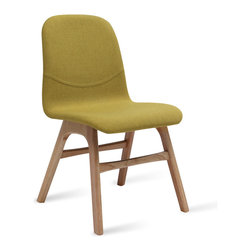 Bryght - Ava Oasis Fabric Oak Dining Chair - Liven up your space with these heart warming Ava dining chairs. Available in a variety of vibrant colors, the Ava chair with its soft contours is sure to woo anyone with an eye for design.