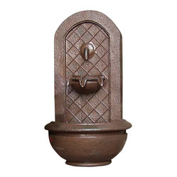 "Serenity Health & Home Decor - Marsala Outdoor Wall Fountain Iron - Dimensions: 18""Wide x 10.5"" Deep x 25.5""High, 10 lbs"