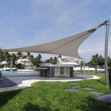 Modern Outdoor Umbrellas Pi of Archimedes by No Equal Design