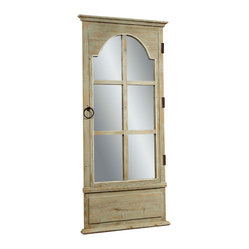 Antique Pine Door Mirror