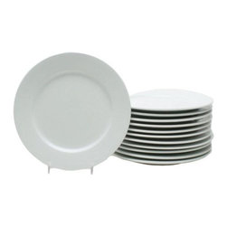 Home Decorators Collection - Blanco Appetizer Plates - Set of 12 - Perfect for entertaining around the holidays as well as for everyday use, these appetizer plates offer sleek, simple style. Sure to blend easily with your other dinnerware, these plates will remain a staple on your tabletop for years to come. Place your order today. Crafted of top-quality materials for years of lasting beauty. Microwave and dishwasher safe.