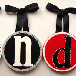 RR - Landon's Hand Painted Round Wall Letters - Landon's Hand Painted Round Wall Letters