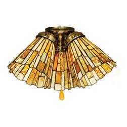 "Meyda Lighting - Meyda Lighting 65093 5""W Jadestone Delta Fan Light Shade - Meyda Lighting 65093 5""W Jadestone Delta Fan Light Shade"