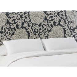 Athens Smoke Slipcover Headboard - This is one of my favorite fabrics, and I love it on this headboard.