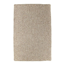 Homespice - Homespice Sepia Braided Rectangle Rug - These soft shades of sandy brown offer a perfect neutral base that never goes out of style. There is no need to compromise beauty for durability. Our Ultra Durable indoor/outdoor rugs are amazing. They resist stains from food, pets, and liquids, while adding color, texture and interest to all your living spaces. This amazing absorbent material leaves the surface below dry with most moderate spills. To clean, simply run under water in your sink or use a hose. These Ultra Durables are thinner and flatter and feature a vertical braid with anti-skid backing. Perfect for kitchens, baths, and entry ways.