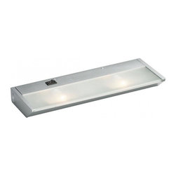 Kichler - Kichler 120V Direct-Wire 2-Light Xenon 120v/20w - 12012SI - This 2-Light Undercabinet Light is part of the Direct Wire 120v Xenon Collection and has a Silver Various Finish.