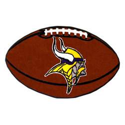 Fanmats - NFL Minnesota Vikings Football Shaped Rug - Features: