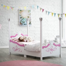Kidkraft Princess Toddler Bed - Silver - Painted in silver tone finish with crowns adorning the headboard, footboard, the top of each bed post, the KidKraft Princess Toddler Bed - Silver, it is sure to be your child's dream come true. It's constructed from strong, durable wood and easy for your princess to crawl into. This toddler bed makes the transition from a crib much easier. The recommended age for this bed is 15 months and up, and the maximum weight capacity is 50 pounds. It accommodates a crib-size mattress. Dimensions: 54.75L x 29.5W x 44.5H inches. About KidKraftKidKraft is a leading creator, manufacturer, and distributor of children's furniture, toy, gift and room accessory items. KidKraft's headquarters in Dallas, Texas, serve as the nerve center for the company's design, operations and distribution networks. With the company mission emphasizing quality, design, dependability and competitive pricing, KidKraft has consistently experienced double-digit growth. It is a name parents can trust for high-quality, safe, innovative children's toys and furniture.
