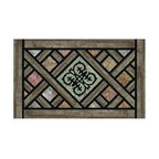 BuyMATS Inc. - Rustic Lattice - Entry MAT - •Exciting full color design Indoor/Oudoor Entry MAT with built in channels provide high fashion appeal.