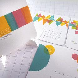 Be Colorful Modern Mini Calendar 2013 by Monkey Min Design - I love the color scheme this desktop calendar is rocking.