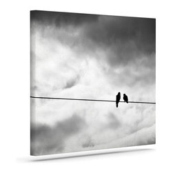 """Kess InHouse - Debbra Obertanec """"Friendship"""" Black White Wrapped Art Canvas (12"""" x 10"""") - Bring your outdoor patio to life with this artistic outdoor canvas wrap featuring gorgeous artwork by KESS InHouse. These canvases are not only easy to hang and remove but also are the perfect addition to your patio collection. These canvases are stretched around a wooden frame and are built to withstand the elements and still look artistically fabulous. Decorating your patio and walls with these prints will add the splash of art and color that is needed to bring your patio collection together! With so many size options and artwork to choose from, there is no way to go wrong with these KESS Canvas Wraps!"""