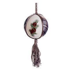 Silk Plants Direct - Silk Plants Direct Embroidered Pine Cone Ball Ornament (Pack of 12) - Silk Plants Direct specializes in manufacturing, design and supply of the most life-like, premium quality artificial plants, trees, flowers, arrangements, topiaries and containers for home, office and commercial use. Our Embroidered Pine Cone Ball Ornament includes the following: