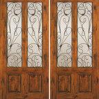 """Knotty Alder Exterior Double Door, Twin Lite 2 Panel - SKU#SW-92_2BrandAAWDoor TypeExteriorManufacturer CollectionWestern-Santa Fe Entry DoorsDoor ModelDoor MaterialWoodWoodgrainKnotty AlderVeneerPrice1840Door Size Options2(30"""") x 80"""" (5'-0"""" x 6'-8"""")  $02(32"""") x 80"""" (5'-4"""" x 6'-8"""")  $02(36"""") x 80"""" (6'-0"""" x 6'-8"""")  +$202(42"""") x 80"""" (7'-0"""" x 6'-8"""")  +$2002(36"""") x 84"""" (6'-0"""" x 7'-0"""")  +$2602(30"""") x 96"""" (5'-0"""" x 8'-0"""")  +$4402(32"""") x 96"""" (5'-4"""" x 8'-0"""")  +$4402(36"""") x 96"""" (6'-0"""" x 8'-0"""")  +$4602(42"""") x 96"""" (7'-0"""" x 8'-0"""")  +$860Core TypeSolidDoor StyleRusticDoor Lite StyleTwin LiteDoor Panel Style2 PanelHome Style MatchingSouthwest , Log , Pueblo , WesternDoor ConstructionTrue Stile and RailPrehanging OptionsPrehung , SlabPrehung ConfigurationDouble DoorDoor Thickness (Inches)1.75Glass Thickness (Inches)1/4Glass TypeSingle GlazedGlass CamingGlass FeaturesGlass StyleGlass TextureClearGlass ObscurityDoor FeaturesDoor ApprovalsDoor FinishesDoor AccessoriesWeight (lbs)680Crating Size25"""" (w)x 108"""" (l)x 52"""" (h)Lead TimeSlab Doors: 7 daysPrehung:14 daysPrefinished, PreHung:21 daysWarranty1 Year Limited Manufacturer WarrantyHere you can download warranty PDF document."""