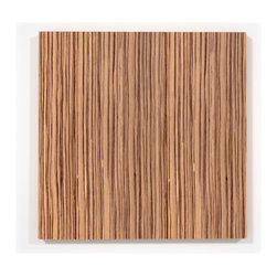Zebrawood Wood Wall Art - Beautiful Zebrawood Wood Wall Art perfect for any contemporary or modern space.