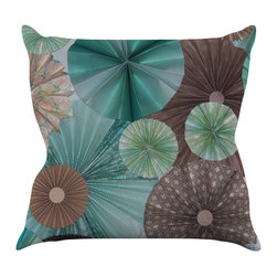 """Kess InHouse - Heidi Jennings """"Atlantis"""" Teal Brown Throw Pillow (20"""" x 20"""") - Rest among the art you love. Transform your hang out room into a hip gallery, that's also comfortable. With this pillow you can create an environment that reflects your unique style. It's amazing what a throw pillow can do to complete a room. (Kess InHouse is not responsible for pillow fighting that may occur as the result of creative stimulation)."""