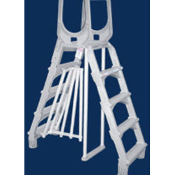 "Heritage - Lyf-Guard 48""-52"" Deluxe A-Frame Resin Ladder - Univesal ladder fits above ground pools from 48 in. to 52 in. deep"