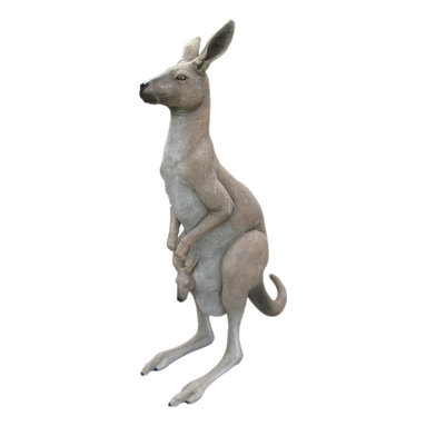 "Kangaroo with Baby Statue - Life Size, 66""H -"