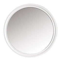 Home Decorators Collection - Hudson Mirror - Create welcoming Zen ambience in your bathroom with our Hudson Mirror. Featuring a smooth round profile and sleek molding, this large circular mirror is the perfect finishing touch. Round frame. Detailed molding.