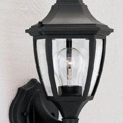 "Designers Fountain - Designers Fountain 2462-BK 1 Light 7"" Cast Aluminum Wall Lantern - Features:"