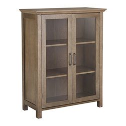 None - Louis 2 Door Floor Cabinet - This handsome and stylish bathroom floor cabinet provides an eye-catching highlight for your decor. Durably constructed and featuring a glass-door design, this cabinet provides an attractive way to keep many rooms throughtout the home neat and orderly.