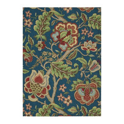 Nourison - Country & Floral Waverly Global Awakening 4'x6' Rectangle Sapphire Area Rug - The Waverly Global Awakening area rug Collection offers an affordable assortment of Country & Floral stylings. Waverly Global Awakening features a blend of natural Sapphire color. Machine Made of 100% Polyester the Waverly Global Awakening Collection is an intriguing compliment to any decor.