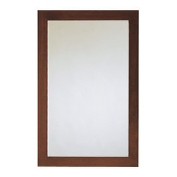 American Standard - Brook Rectangular Mirror in Espresso - American Standard 9273.101.339 Brook Rectangular Mirror in Espresso.
