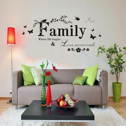 ColorfulHall Co., LTD - Family Wall Saying Family Where Life Begins & Love Never Ends - Family Wall Saying Family Where Life Begins & Love Never Ends