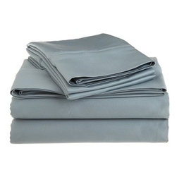 1200 Thread Count Egyptian Cotton King Teal Solid Sheet Set - 1200 Thread Count oversized King Teal Solid Sheet Set 100% Egyptian Cotton