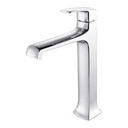 Kraus - Kraus C-GV-101-12mm-15200CH Clear Glass Vessel Sink and Decorum Faucet - Add a touch of elegance to your bathroom with a glass sink combo from Kraus