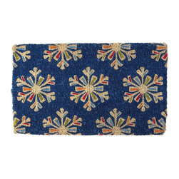 Snowflakes Holiday Coir Doormat - This doormat is the perfect one to use all winter long. You would even be able to see that bright blue through the dreaded snow.