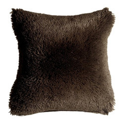 Pillow Decor - Pillow Decor - Soft Plush Brown 20x20 Throw Pillow - This fantastic 20x20 espresso brown throw pillow is irresistibly plush and soft. The pillow is so cozy and fun that you won't be able to take your hands off it. They are versatile for every room and the kids will love them.