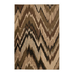 Surya - Surya Riley Rug X-8966-0005YLR - Both a bold zig-zag pattern and traditional organic pattern define the rugs in the Riley collection from Surya. While the zig zag pattern is a modern take on the traditional southwest style, the floral pattern of classic style is given a fresh perspective, combining it with geometric sections of different background colors. The Neural browns, tans and grays are delightfully balanced with a pop of cinnamon spice for added interest.  Each rug is machine made in Turkey from 1% polypropylene.