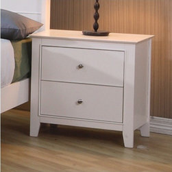 Wildon Home � - Twin Lakes 2 Drawer Nightstand - Features: -Casual style.-Clean smooth edges and subtle tapered feet.-Smooth wooden tops.-Solid woods bathed in a white finish.-Twin Lakes collection.-Distressed: No.-Collection: Twin Lakes.Dimensions: -Overall Product Weight: 37.34 lbs.