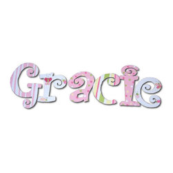 RR - Gracie Fun & Girly Hand Painted Wall Letters - Fun and Girly Hand Painted Wall Letters