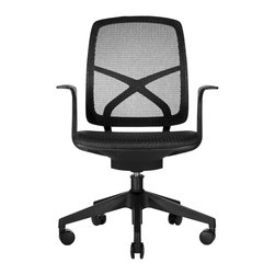 Wobi Office - Wobi Phelps Chair - Once you calculate the amount of time you spend sitting at your desk, you'll be shocked that you haven't invested in a decent chair yet. This task chair will enable you to keep putting in those long hours without sacrificing the health of your back.